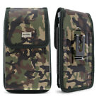 Camo Cell Phone Holder Pouch w/ Belt Loop & Clip Holster Camouflage (3 Sizes)