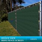 Ifenceview 6'x3'-6'x50' Green UV Fence Privacy Screen Mesh Fabric Garden Outdoor