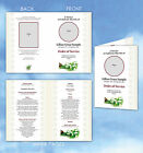 Personalised Order of service funeral Booklets 4 pages with your own text+photo