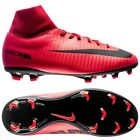 Nike Mercurial Victory VI FG  2017 DF Soccer Shoes Kids Youth Fire Red Black