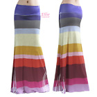 Colorful Striped Knitted Print Sublimation Maxi Long Skirt S/M/L/XL/1XL/2XL/3XL