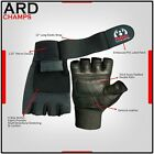 ARD W/L Gloves Long Wrist Wrap Gloves Power Lifting Lifter PADDED Palm Gloves