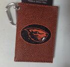 NWT NCAA College Logo Football ID Holder / Mini Wallet with Carabiner Attachment