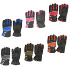 Kids Insulated Waterproof Adjustable Lined Winter Ski Gloves