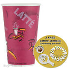 SOLO Disposable Hot Drink Paper Cups, Sip Lids 50-1000 + 3 FREE Coffee Stencils