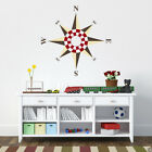 Multicolor Compass Rose Vinyl Wall or Ceiling Decal - fits playroom