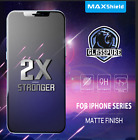 MAXSHIELD MATTE TEMPERED GLASS SCREEN PROTECTOR FOR APPLE iPhone X 7/8 8/7 Plus