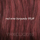 #99j red wine burgundy Invisible Wire Hair Extension One Piece Hair 80g 120g