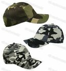 Boys Childrens Camouflage Camo Army Print Baseball Cap Sun Peak Cotton Beach Hat