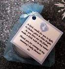 BABY SHOWER SCENTED CANDLE FAVOURS 10 PACK - BOY BLUE GIFT BOX