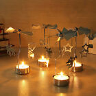 1Pc Xmas Rotating Rotary Spinning Carrousel Tea Light Candle Holder Center Decor