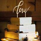Wedding Birthday Cake Topper Insert Card Love and Mr&Mrs Wood Cake Decorations