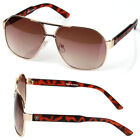 New Mens Womens Khan Lion Pilot Designer Retro Sunglasses Fashion Shades Hexagon