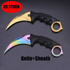 Knife Sharp Claw Survival Knife Tactical FixedBlade Hunting Fishing Knife+Sheath