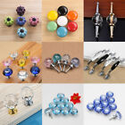 Crystal Glass Ceramic Diamond Door Knobs & Pulls Drawer Cabinet Wardrobe Handles