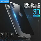 For iPhone X 8/7 7/8 Plus Front & Back 3D Tempered Glass Screen Protector Cover