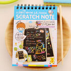 Kawaii Drawing DIY Scratch Notebook Creative Magic Book School Supplies For Kids