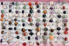 HOT wholesale Lots Bulk Colourful assorted natural gemstone silver P rings FREE