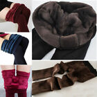 2017 Women Solid Fleece Lined Thermal Sexy Skinny Winter Warm Leggings Pants Us