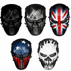 Airsoft Paintball Full Face Skull Skeleton CS Mask Tactical Cosplay Costume Prop
