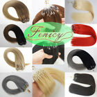 8A Double Drawn Remy Human Hair Extensions Silicone Micro Ring Bead Loop Tip 1g