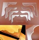 4pcs Leather Craft Acrylic Bag Wallet Corner Decoration Pattern Stencil S3