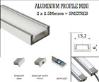 Slim 2 X 2.5 Meter = 5 Meter Aluminium Profile for LEDStrip Lights+Cover+Access.