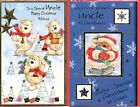 Christmas Card Special Uncle Best Wishes Uncle Large New with Envelopes