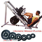 NEW PACKAGE: Body-Solid GLPH1100 Leg Press & Hack Squat + Olympic Weight Plates