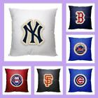 "MLB Licensed Letterman 18"" Throw Toss Pillow - Choose Your Team"