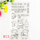 Silicone Rubber Clear Stamps Scrapbooking Embossing DIY Handcrafts Decoration