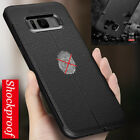 Luxury Protection Shockproof Matte PU Leather Soft Back Case Cover For Samsung