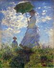 Woman with a Parasol Painting by Claude Monet Art Reproduction