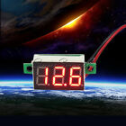 Digital LCD Temperature Humidity Thermometer Hygrometer Red LED Voltage Meter