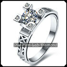 Modern Space Style 0.50Ct DIAMOND Platinum PT950 Vintage Ring Engagement EDITH