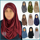 Jersey Hijab criss cross Turban pull on ready made Abaya Scarf instant Jilbab