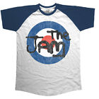 The Jam Target Logo Distressed Raglan T-Shirt Official Merchandise