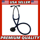 """Professional Black Edition Cardiology Stethoscope 27"""" Tunable Diaphragm 2 Colors"""