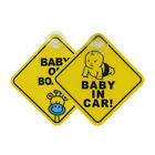 Car Baby Warning Safety Suction Sticker Baby on Board Baby in Auto Cartoon 2pc