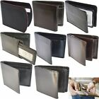 Genuine Leather Gents Soft Wallet Credit Debit Cards Christmas Birthday Gift New