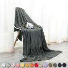 NTBAY 100% Cotton Cable Knit Throw Blanket Super Soft Warm Multi Color image