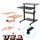 Adjustable Rolling Standing Computer Desk Laptop Table Workstation Home Office