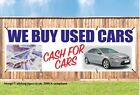 WE BUY USED CARS PVC OUTDOOR BANNER CAR GARAGE SALES SIGN PVC with Eyelets 002