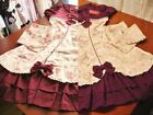 Bodyline Sweet Classic Lolita Floral Canvas OP Dress Maroon or Purple Size M NWT