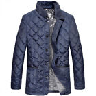 Mens Quilted Padded down Winter Warm Stand collar Coat Outwear Jacket light new