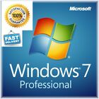 Microsoft Windows 7 Professional PRO-32/64 Full Version & Upgrade SP1 + HARDRIVE