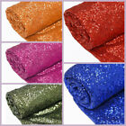 "54"" x 4 yards SEQUINED FABRIC BOLT Bridal Wedding Party Put-up Decorations SALE"