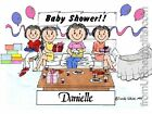 PERSONALIZED CUSTOM CARTOON PRINT - BABY SHOWER - GREAT GIFT IDEA! FREE S/H