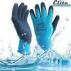 New Fully Coated Latex Grip Gloves Wet Work Breathable Waterproof Aqua proof