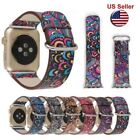 Apple Watch series3 2 1 Colorful Leather Band Strap & Adapter iWatch 38 42mm